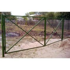 Ворота из сетки рабица М008