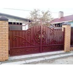 Ворота кованые №0194 (средняя стоимость 2608 бел. руб.)