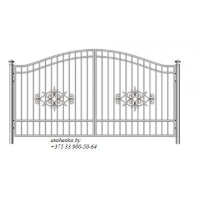 Ворота кованые №096 (средняя стоимость 1142 бел. руб.)