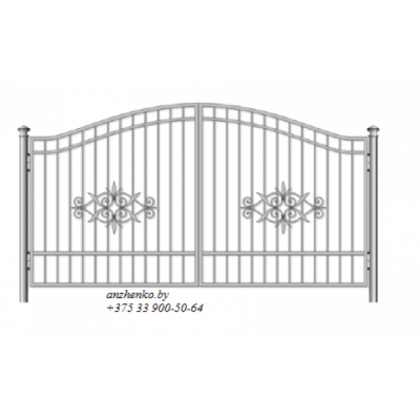 Ворота кованые №096