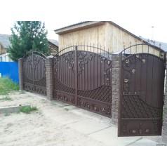 Ворота кованые №095 (средняя стоимость 2214 бел. руб.)