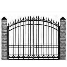 Ворота кованые №0199 (средняя стоимость 1622 бел. руб.)
