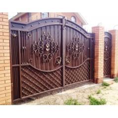 Ворота кованые в Минске №0193 (средняя стоимость 2940 бел. руб.)