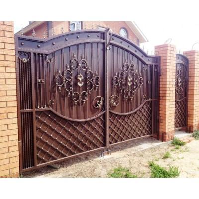Ворота кованые в Минске №0193 (средняя стоимость 2352 бел. руб.)