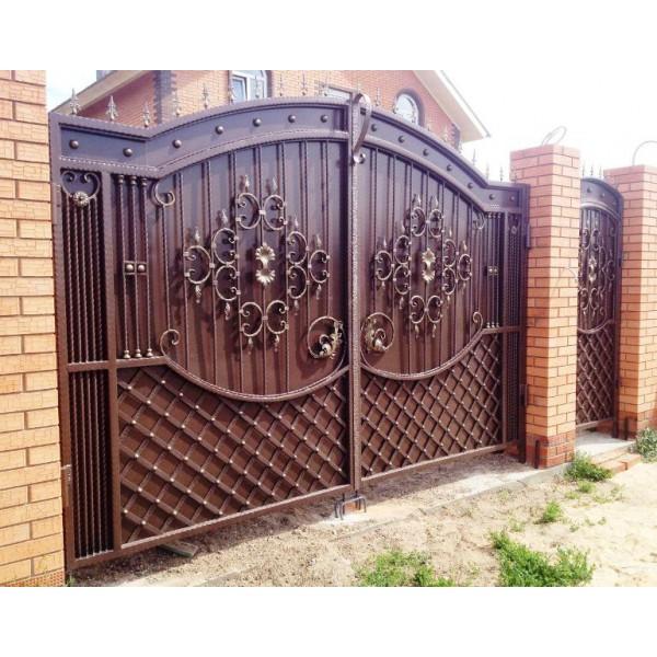 Ворота кованые в Минске №0193