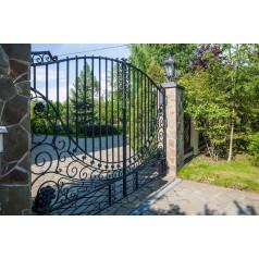 Ворота кованые №0393 в Минске (средняя стоимость 3287 бел. руб.)