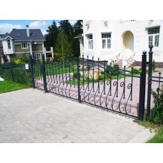 Ворота кованые №0203 (средняя стоимость 1344 бел. руб.)