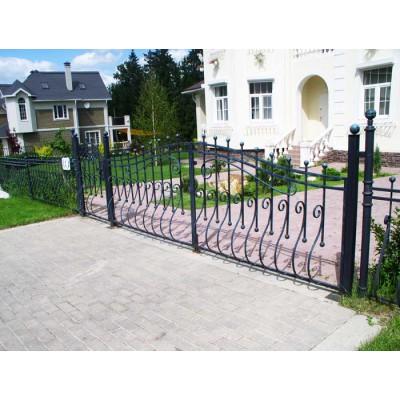 Ворота кованые №0203 (средняя стоимость 1944 бел. руб.)