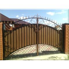 Ворота кованые  №097 (средняя стоимость 1814 бел. руб.)