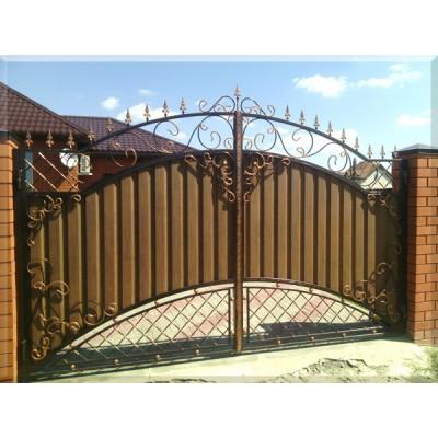 Ворота кованые  №097 (средняя стоимость 2946 бел. руб.)