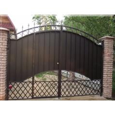 Ворота кованые в Гомеле №096 (средняя стоимость 1310 бел. руб.)