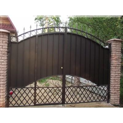 Ворота кованые в Гомеле №096 (средняя стоимость 2277 бел. руб.)