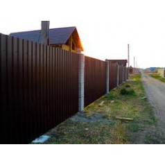 Забор из профнастила (металлопрофиля) в Могилеве
