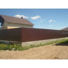 Забор из профнастила №3 в Могилеве (высота 1.7м)
