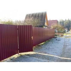 Забор из профнастила №4 в Могилеве (высота 2м.)