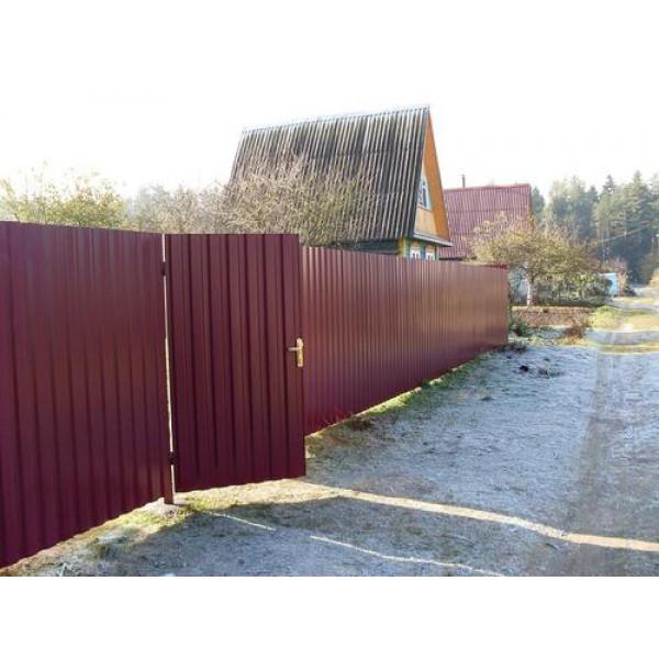 Забор из металлопрофиля №4