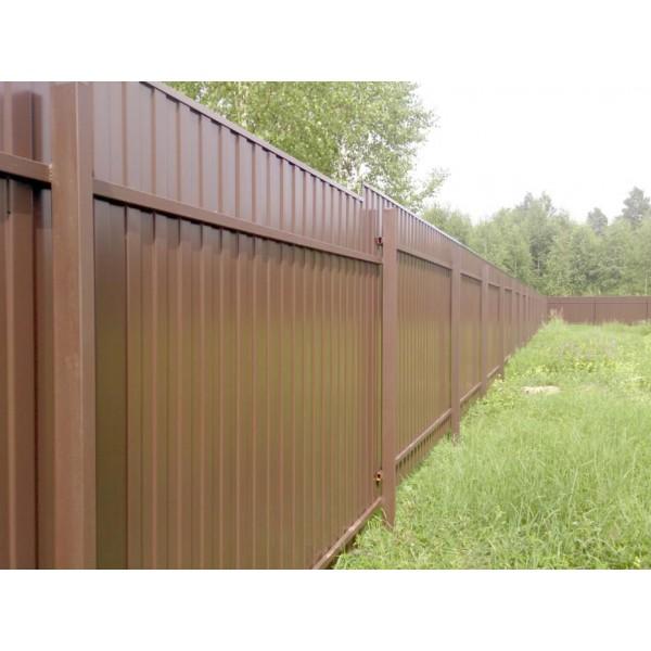 Забор из металлопрофиля №1