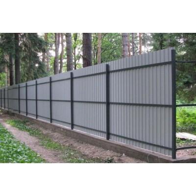 Забор из металлопрофиля в Кричеве