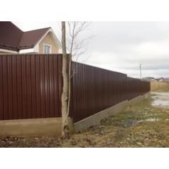 Забор из металлопрофиля в Могилеве