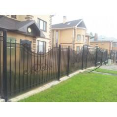 Забор кованый с поликарбонатом №0211 (в Бобруйске)