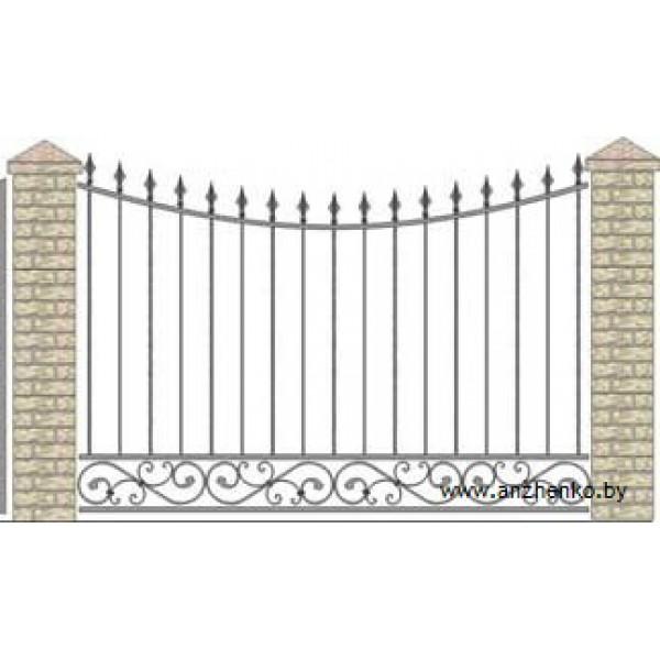 Забор кованый №0224