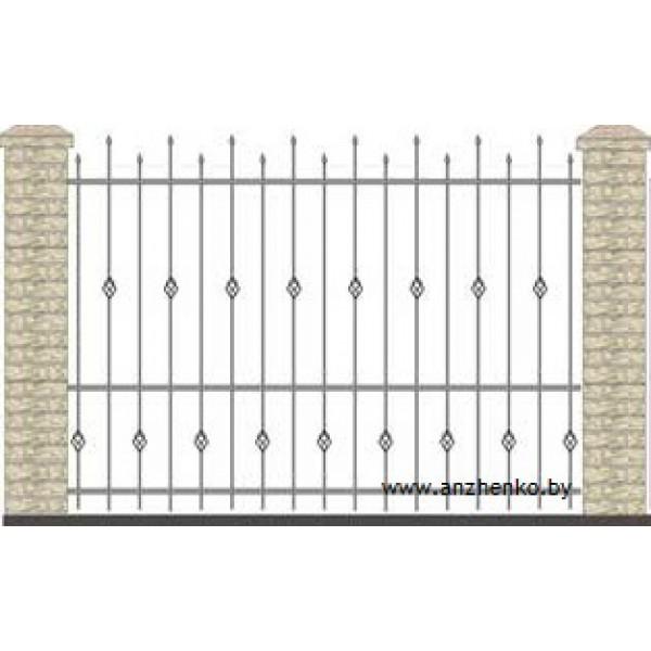 Забор кованый №0225