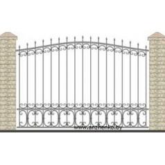 Забор кованый №0228
