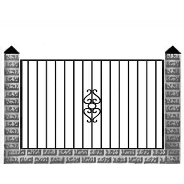 Забор кованый №0153 в Кричеве